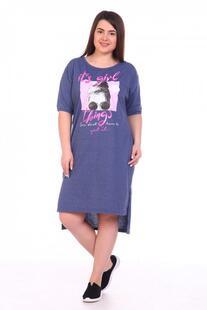 Платье трикотажное Иоанна (индиго) Инсантрик 38508