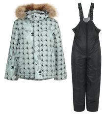 Комплект куртка/полукомбинезон Kvartet, цвет: серый/черный Квартет 9777438