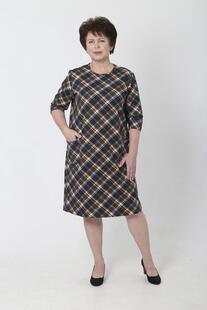 Платье трикотажное Альба (желтая клетка) Инсантрик 36593