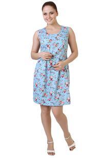 Платье ситцевое Винтаж (голубое) Инсантрик 36172