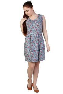 Платье ситцевое Винтаж (серо-голубое) Инсантрик 36175
