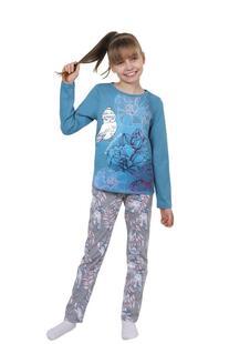 Пижама детская Совушка (голубая) Инсантрик 35935
