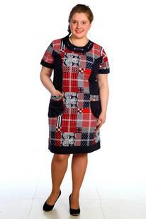 Платье трикотажное Клетка Инсантрик 34912