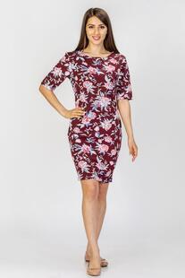 Платье трикотажное Плисанс (бордовое) Инсантрик 33730