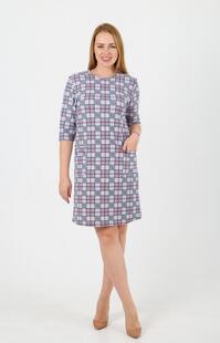 Платье трикотажное Альба (клетка) Инсантрик 32729