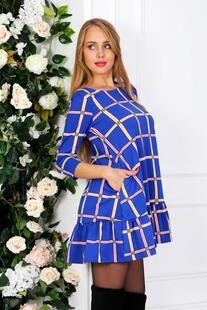 Платье трикотажное Лареина (синяя клетка) Инсантрик 31090