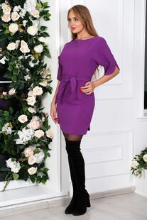 Платье трикотажное Марджори (фиолетовое) Инсантрик 31071