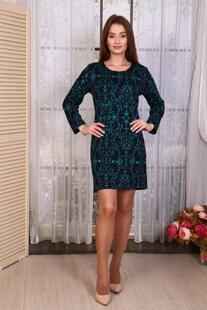 Платье трикотажное Карлин (зеленое) Инсантрик 30934
