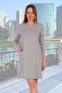 Платье трикотажное Аврелия (клетка) Инсантрик 30211