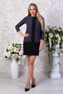 Платье трикотажное Хелена (серое) Инсантрик 29660