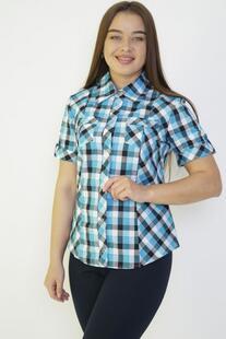 Рубашка трикотажная Полли (бирюзовая) Инсантрик 29464