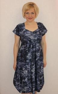 Платье трикотажное Лиззи (абстракция) Инсантрик 29215