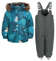 Комплект куртка/брюки Huppa Avery, цвет: бирюзовый/серый 9562380