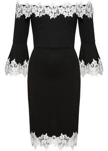 Платье с открытыми плечами bonprix 251598268