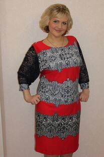 Платье трикотажное Лакиша (красное) Инсантрик 6683