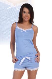 Пижама трикотажная Руэлия (голубая) Инсантрик 7205