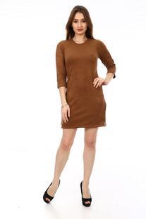 Платье замшевое Оуэна (коричневое) Инсантрик 23841