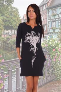 Платье трикотажное Миледи (темно-синее) Инсантрик 18019