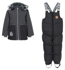 Комплект куртка/полукомбинезон Huppa Russel, цвет: серый/черный 9561789