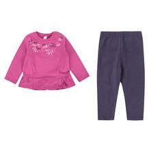 Комплект платье/леггинсы Bossa Nova Клюква, цвет: розовый 9490434