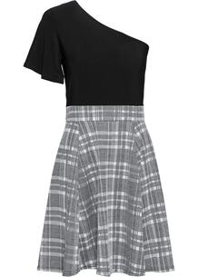 Трикотажное платье на одно плечо bonprix 250703434