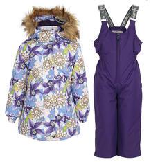 Комплект куртка/полукомбинезон Huppa Renely, цвет: фиолетовый 9561582