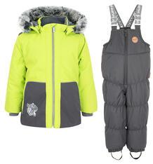 Комплект куртка/полукомбинезон Huppa Russel, цвет: зеленый/серый 9561822