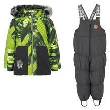 Комплект куртка/полукомбинезон Huppa Russel, цвет: зеленый/серый 9561834