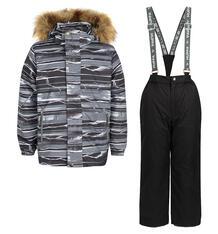 Комплект куртка/полукомбинезон Huppa Dante, цвет: серый 9562074