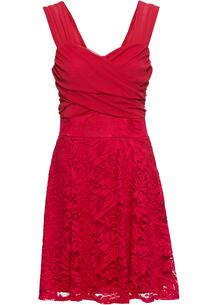 Платье с кружевной юбкой bonprix 250180667
