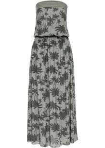 Платье макси бандо с принтом bonprix 265847150