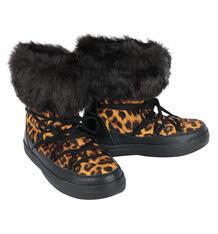 Унты Crocs LodgePoint Lace Boot W Leopard/Black, цвет: черный 7149871