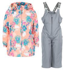Комплект куртка/полукомбинезон Huppa Yonne, цвет: коралловый 8298139