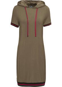 Платье с капюшоном, трикотаж bonprix 246626998