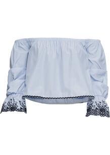 Блузка с вырезом кармен и вышивкой bonprix 246627551