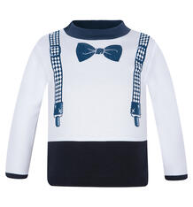 Джемпер Мелонс, цвет: белый/синий 7442251