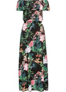 Платье макси с принтом bonprix 245553259