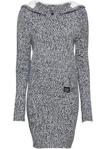 Вязаное платье-анорак bonprix 238416431