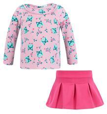 Комплект джемпер/юбка Bossa Nova Совушка, цвет: розовый 6473335