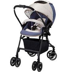 Прогулочная коляска Combi Mechacal Handy 4cas, цвет: бежевый/синий 6509677
