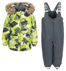 Комплект куртка/брюки Huppa Avery, цвет: зеленый/серый 6165073