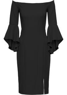 Платье с вырезом кармен bonprix 222657501