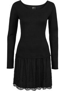 Платье с трикотажным верхом и кружевной юбкой bonprix 202493595