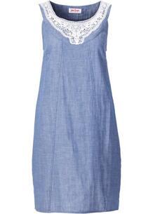 Платье с кружевом (синий) bonprix 97124795