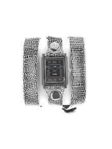 Часы Simple BLACK/WHITE AFRICAN PRINT W/Black La Mer Collections 4358835