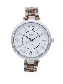 Часы Sicily AcetateTortoise-Silver White Dial La Mer Collections 3927330