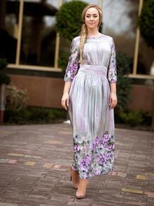 """Платье """"Лиловые цветы"""" Серафима 4156007"""