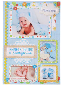 Обложка для свидетельства о рождении А М Дизайн 4068271