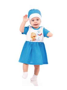 Платье, шапочка Апрель 4025626