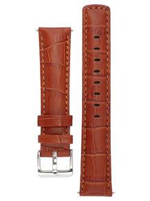 Водонепроницаемый ремешок для часов из кожи теленка с фактурой под аллигатора. Ширина от 18 до 24 мм Signature 3874007